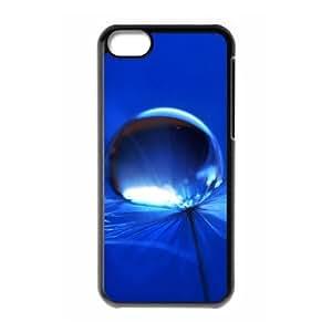 XiFu*Meiiphone 4/4s Case,Macro Pure Dandelion Water Drop Hard Shell Back Case for Black iphone 4/4s Okaycosama352040XiFu*Mei