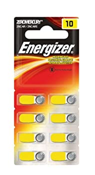 Energizer Hearing Aid Batteries, Size 10