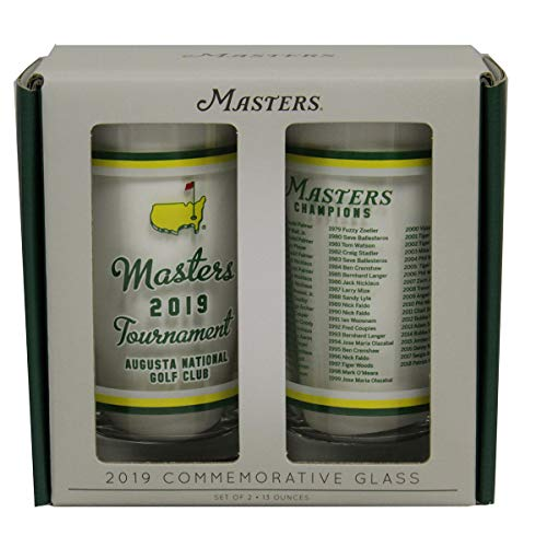 2019 Masters Golf Tournament Commemorative Highball Drinking Glasses- Set of 2 from Golf Majors Merchandise