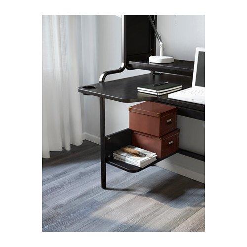 IKEA fredde ordenador estación de trabajo, negro: Amazon.es: Oficina y papelería