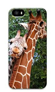 Armener Hard Protective 3D Iphone5 5S Case With Lovely Giraffe Couple