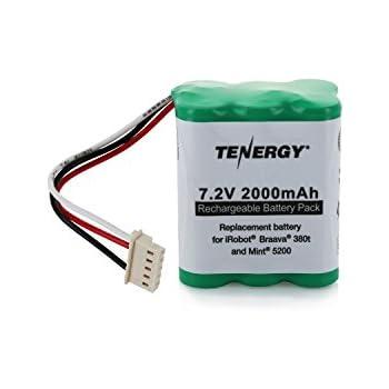Tenergy 7.2V 2000mAh Replacement Battery for iRobot Braava 380t & Mint 5200
