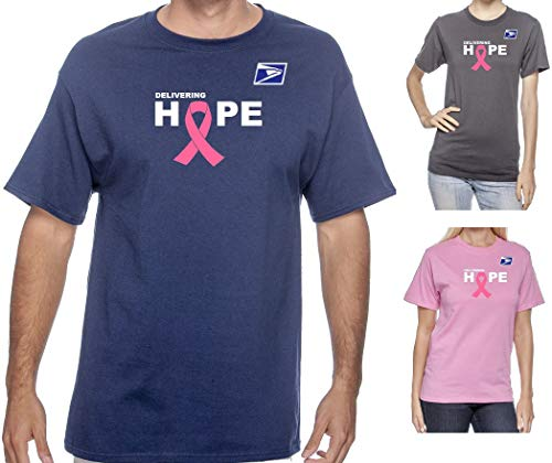 USPS Postal Post Office October Breast Cancer Awareness Short Sleeve 50/50 Tee Tshirt by PCA Etc