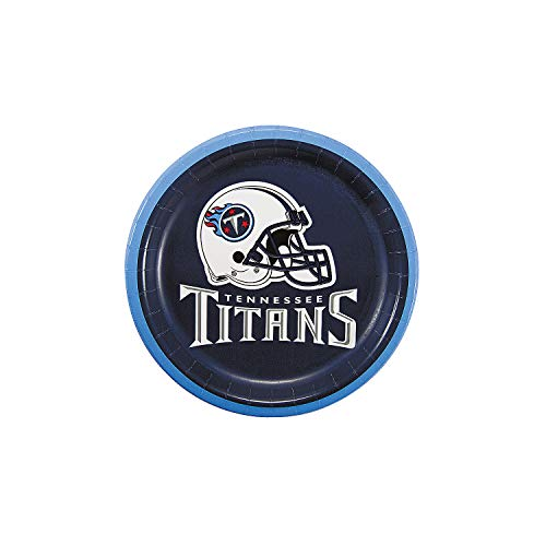 Fun Express - Nfl Tennessee Titans Dessert Plates for Party - Party Supplies - Licensed Tableware - Licensed Plates & Bowls - Party - 8 Pieces ()