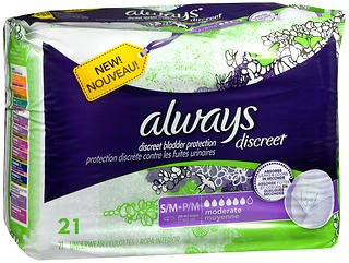 Always Discreet Bladder Protection S/M Moderate - 3pks of 21, Pack of 4