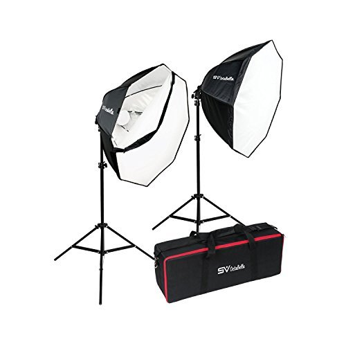 Smith Victor OctaBella 1000W 2-LED Light Softbox Kit Smith Victor Soft Light