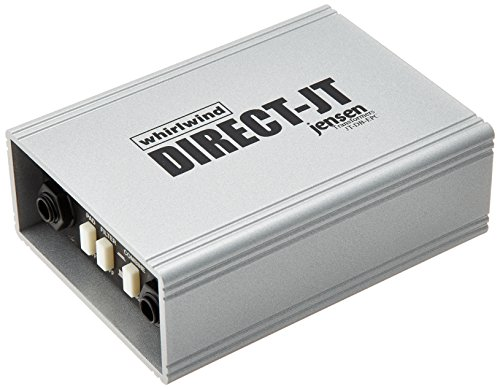 Whirlwind DIRECT-JT Single Channel Passive Direct Box with Jensen Transformer, 20Hz-20kHz Frequency Response, XLR/1/4