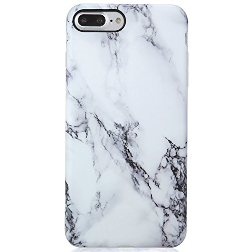 Phone Case Slim Case, Marble Case Black and White,Rocking Giraffe Shock Absorption Plastic Hard Back Cover Phone Case for iPhone 7/8 Plus 5.5