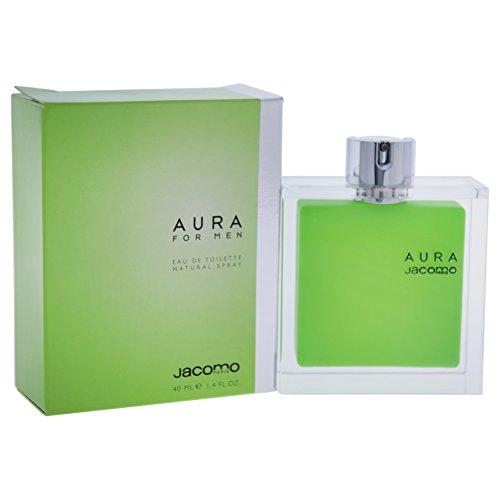 Jacomo Aura Eau de Toilette Spray for Men, 1.4 Ounce ()