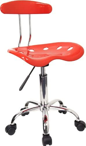 Flash Furniture Office Chair – A red and chrome office chair that is very rigid