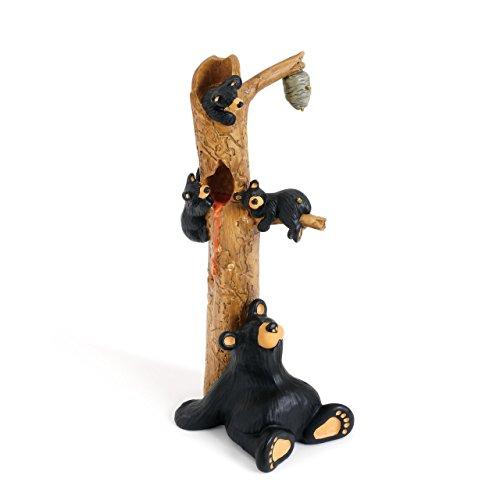 (DEMDACO Honey Tree Black Bear 9 x 3 Hand-cast Resin Figurine Sculpture )