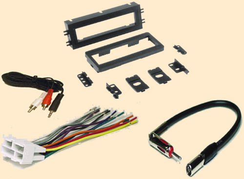 - GMC Sonoma 2001 - Chevy corvette 1997 1998 1999 2000 2001 2002 2003 2004 - Chevoret Lumina 1996-2001 - Stereo wiring Harness, Dash Install Kit Faceplate, with FM Antenna Adaptor (Combo Complete Aftermarket Stereo Wire and Installation Kit) (Dash Faceplate)
