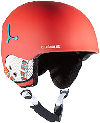 Cébé CBH191 Cascos de Esquí, Unisex niños, Rojo (Matte Red), 54-56 ...