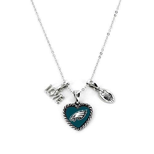 Aminco International NFL Philadelphia Eagles Charmed Love Football Necklace from Aminco International