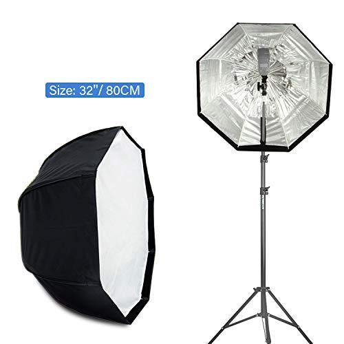 32' White Umbrella - VILTROX 32''/80cm Umbrella Octagon Softbox for Studio Photo Flash Speedlight