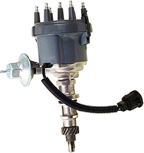 A-Team Performance 6 Cylinder Distributor Compatible with Ford 3004.9 1974-1985 F100 F150 F250 F100 F350 E100 E150 Silver