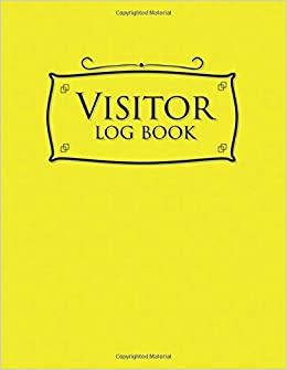 amazon com visitor log book school visitor sign in sheet visitor