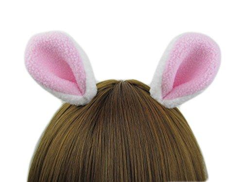 Happylifehere Bunny Ears Hair Clips On Halloween Party Fancy Dress Cosplay Costume Headwear -