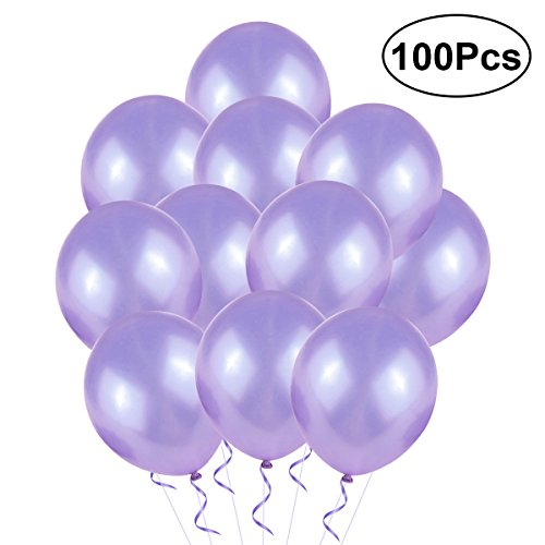 TOYMYTOY Ballon for Wedding 2.8g Pearl Latex Balloons for Birthday Party Decaration 100 pcs ()