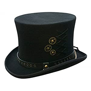 Conner Hats Men's Steampunk Top Hat