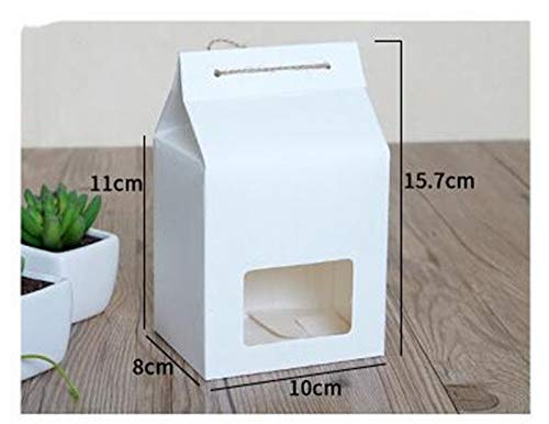 f61ff02b01e8 XLPD White/Brown/Blue Kraft Paper Box with Window Gift Box,Kraft Paper Gift  Box for Party,Large Size Food Packaging Boxes Blue 10x8x21.5cm