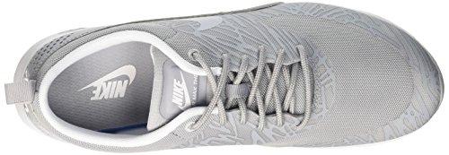 Nike 599408-009: Air Max Thea Stampa Grigio / Bianco Moda Sneaker In Corsa Per Le Donne Grigio / Bianco