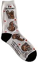 I Love Sloths Women Socks Cotton New Gift Fun Unique Fashion