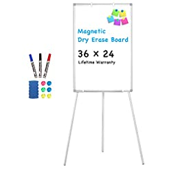 Easel Whiteboard - Magnetic Portable Dry...