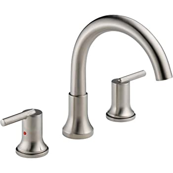 lahara roman tub faucet. Delta Faucet T2759 Trinsic  3 hole Roman Tub Trim Chrome T2738 SS Lahara Stainless Bathtub Faucets