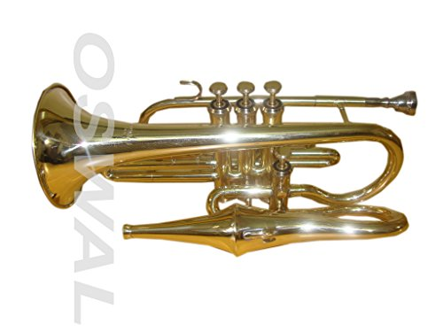 OSWAL Bb Flat Brass Finishing Echo Conret With Free Hard Case+Mouthpiece by OSWAL