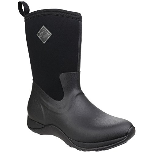 Muck Boot Unisex Arctic Weekend Pull On Wellington Boots Black/Black
