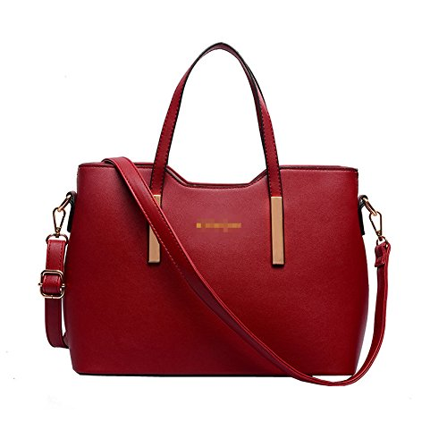 Top Shop Womens Leather Handbags Messenger Shoulder Bags Hobos Totes Red Saddle