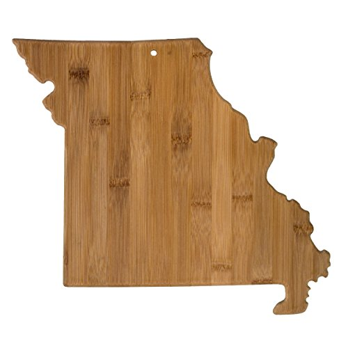 Totally Bamboo Missouri State Shaped Bamboo Serving and Cutting Board