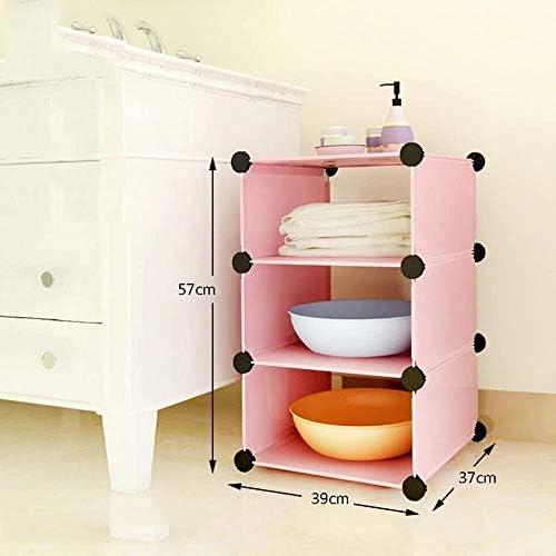 バスルーム棚プラスチック製の収納ラック分離組織は、多機能バスルームキッチンベッドルームラック LCSHAN (Color : A)