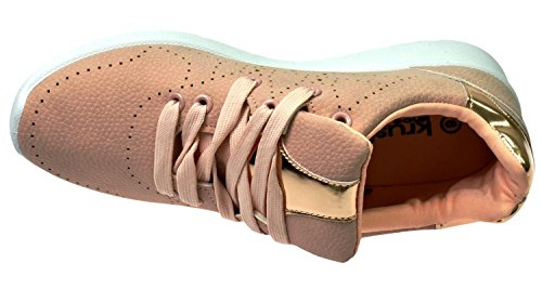 Ladies Lace Womens Walking Krush up Jogging nude Shoes Trainers Ls0696 5xp4Oqqw