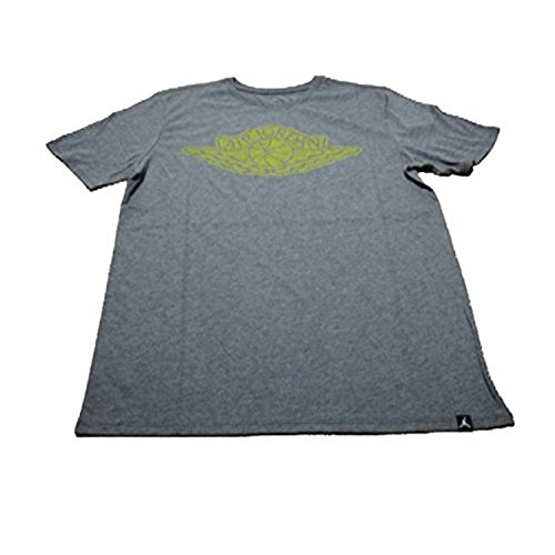 Jordan M JSW TEE ICONIC WINGS LOGO mens athletic-shirts 834476-073_S - CHARCOAL HEATHR/OPTI YELLOW
