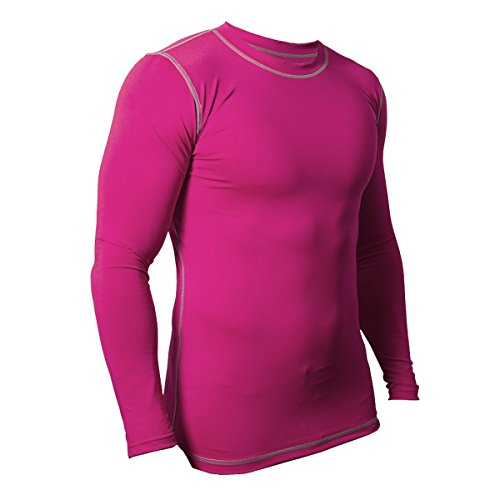FLOSO® Mens Premium Thermal Baselayer Top (Ideal For Outdoor Sports) (M) (Hot Pink)