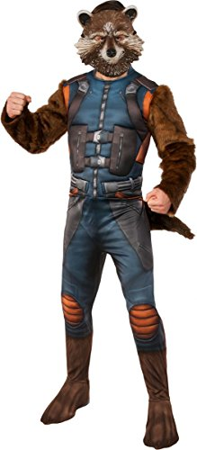 Rocket And Groot Costumes (Rubie's Men's Guardians of the Galaxy Rocket Raccoon Costume, Gotg Vol. 2, X-Large)