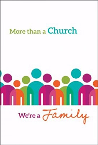 (Welcome Folder - More than a Church...We're a Family - (Pack Of 12))