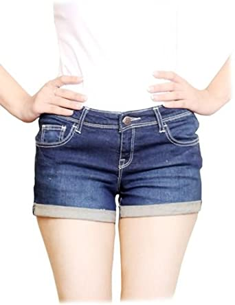 Hugh Banner HB Ladies Designer Denim Shorts. Girls Hotpants. Denim Jeans Shorts Light Blue 8