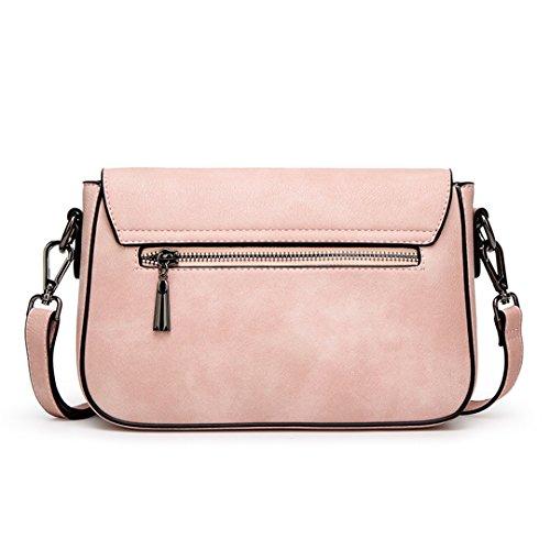 sac femmes carré boucle bandoulière main cuir simple épaule sac petit fashion nouveau PU Wewod Rosé à sac FxnqOw4q