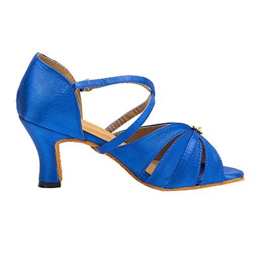 Meijili - plataforma mujer Azul (Royal Blue)