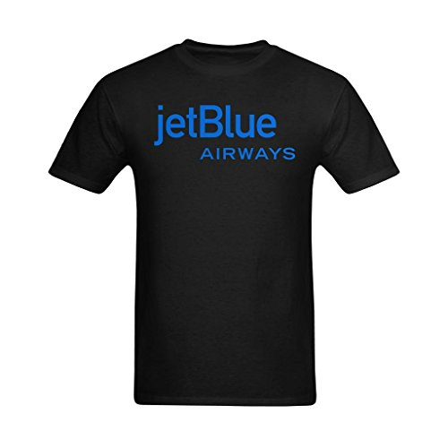 youranli-mens-jetblue-airlines-airways-logo-t-shirts-l