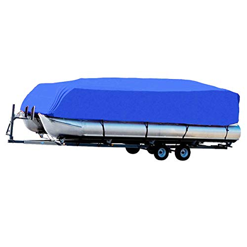 PARTS-DIYER 600D Oxford Waterproof Fabric Trailerable Pontoon Boat Cover Fit For Square-Hull,Fish/Ski Boat,Pontoon Boat,Runabout (Best Fish And Ski Boats)