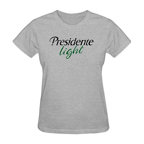 Ptshirt.com-3256-Women\'s Presidente Light DIY Cotton Short Sleeve T Shirt YHLN-B01M0JUXO8-T Shirt Design