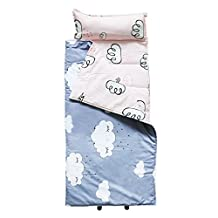 Hi Sprout 100% Cotton Kids Toddler Lightweight and Soft Nap Mat- Clouds
