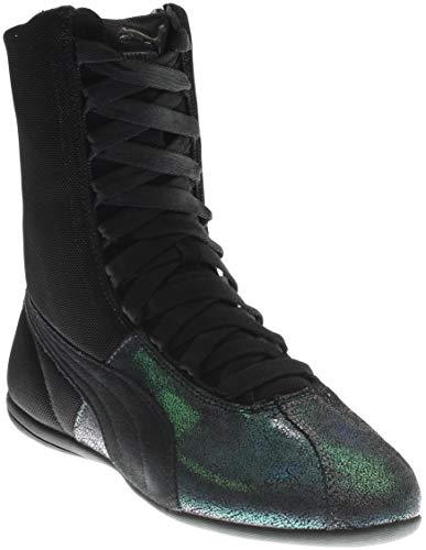 (PUMA Women's Eskiva Hi Deep Summer Black Sneaker 9.5 B (M))