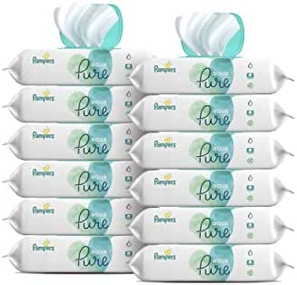 Baby Wipes, Pampers Aqua Pure Sensitive Water Baby Diaper Wipes, Hypoallergenic and Unscented, 672 Total Wipes