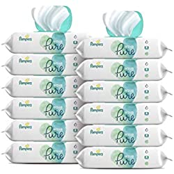 Pampers Aqua Pure 12X Pop-Top Packs Sensitive Water Baby Wipes, Hypoallergenic and Unscented, 672 Count