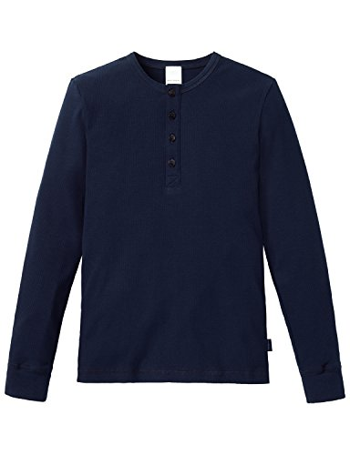 Schiesser Jungen Schlafanzugoberteil Mix & Relax Shirt 1/1, Gr. 176, Blau (nachtblau 804)